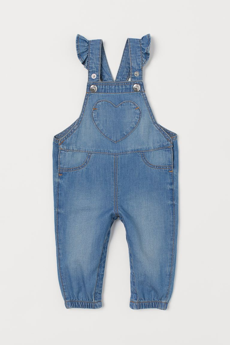 Salopette en denim - Bleu denim - ENFANT | H&M FR