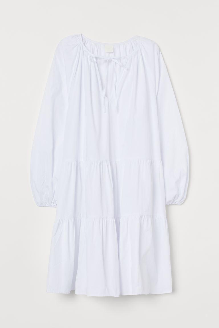 Kleid mit Puffärmeln - Weiß - Ladies | H&M DE 5