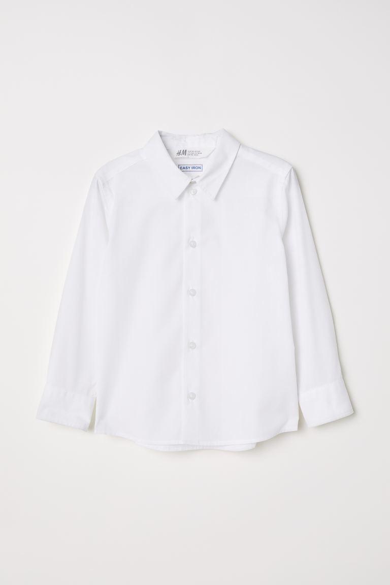 Easy-iron shirt - White -    H&M GB