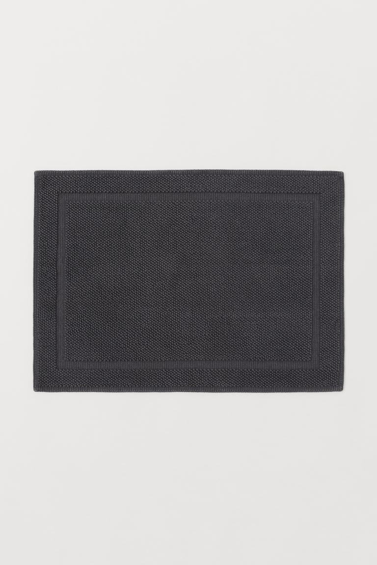 Bath mat - Anthracite grey - Home All | H&M GB