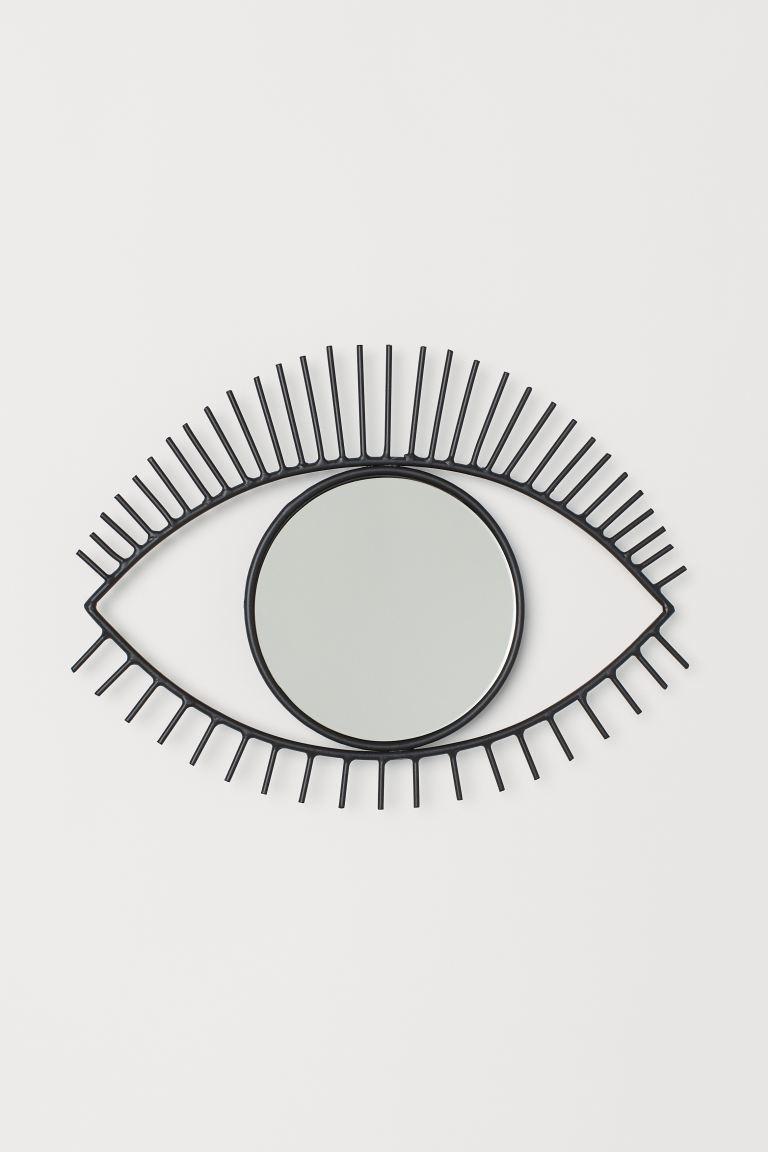 Miroir en forme d'œil - Noir - Home All | H&M F...