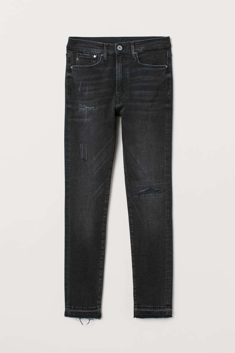 Shaping High Ankle Jeans - Sort washed out - DAME | H&M DK