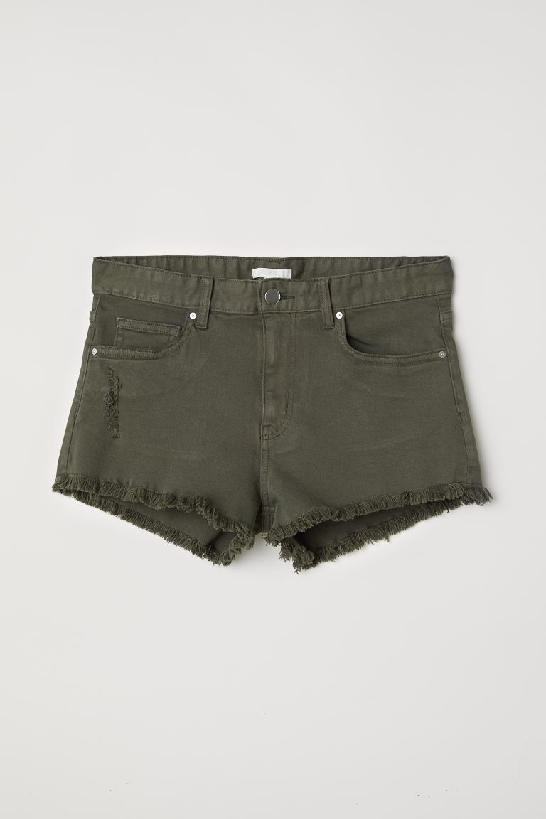 Shorts in denim - Verde kaki scuro - DONNA | H&M IT