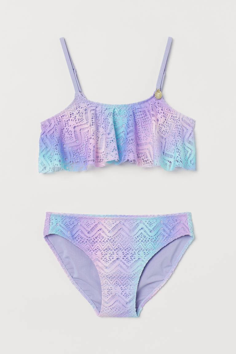 Lace-patterned bikini - Purple/Turquoise - Kids | H&M