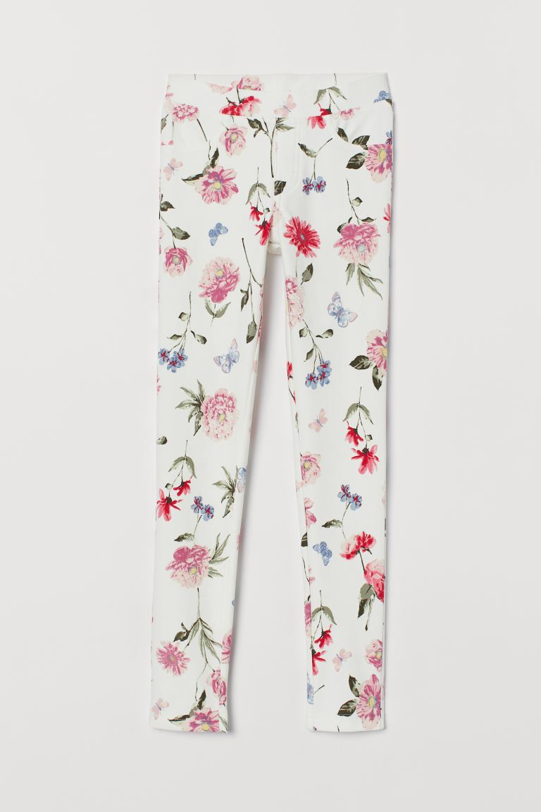 Treggings - White/Floral -  | H&M GB