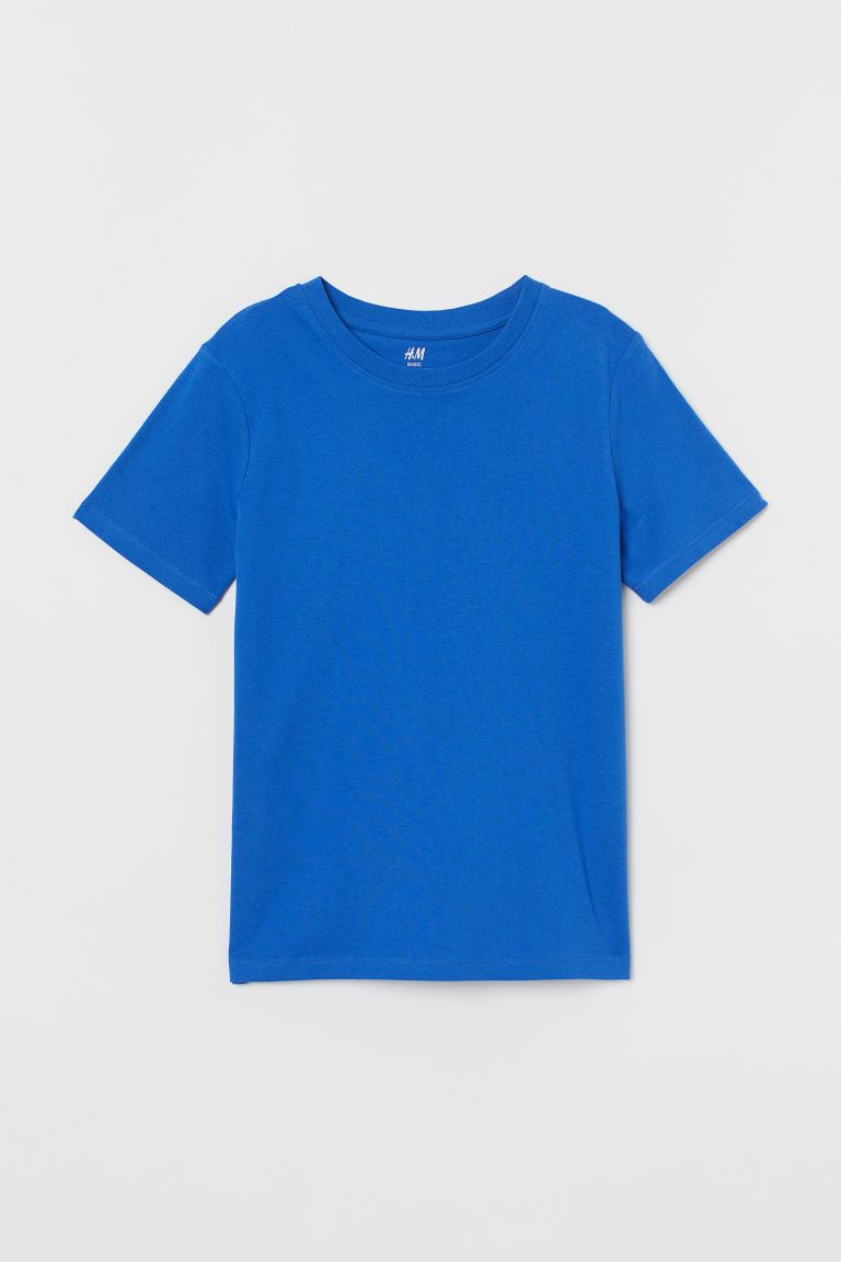Cotton T-shirt - Cornflower blue - Kids | H&M GB