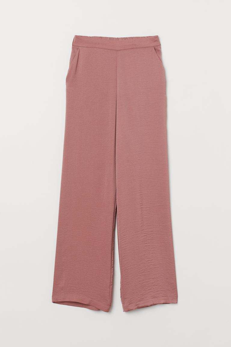 Wide-cut Pull-on Pants - Dark pink - Ladies | H&M US