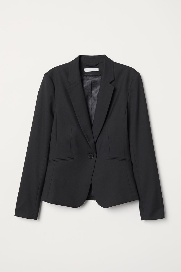 Blazer aderente - Nero - DONNA | H&M IT