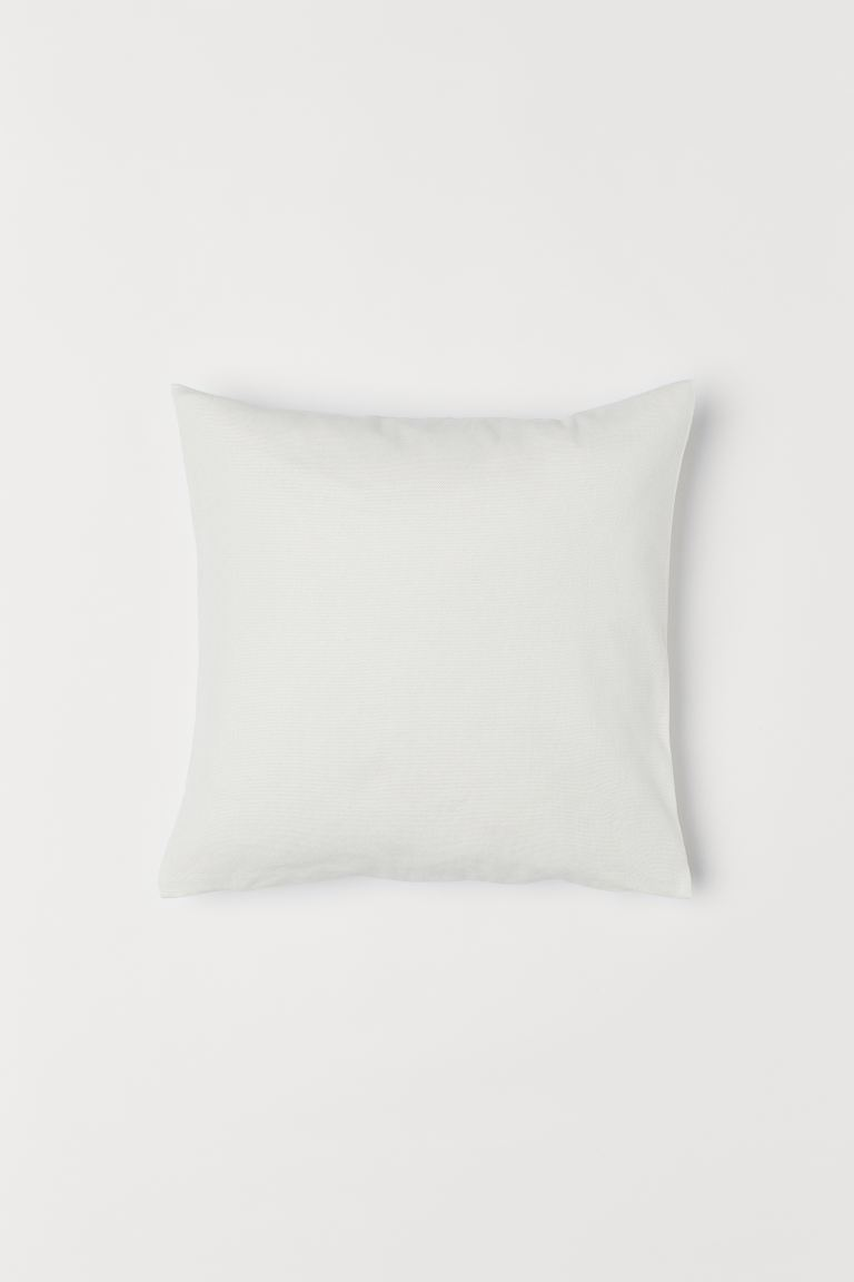 Cotton Canvas Cushion Cover - White - Home All | H&M US