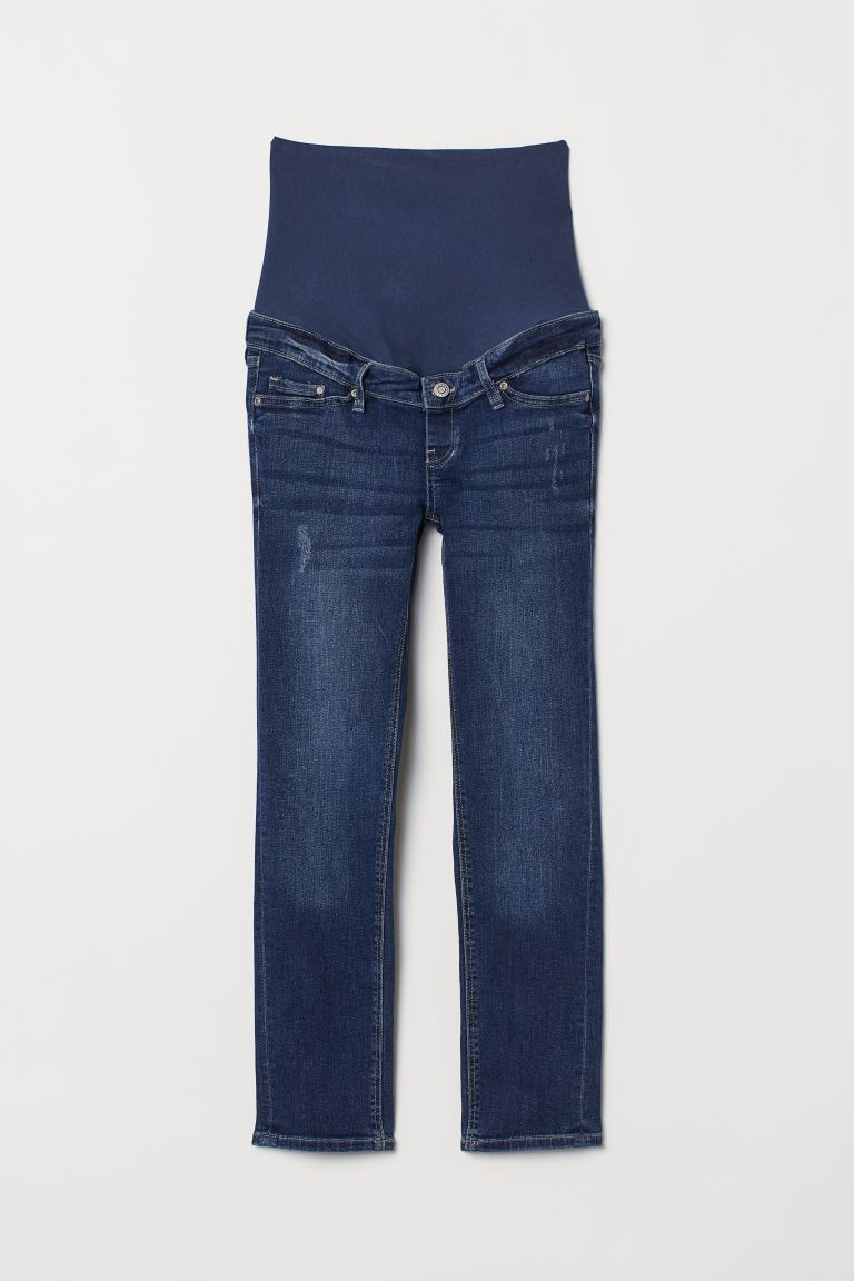 MAMA Skinny Ankle Jeans - Dark denim blue - Ladies | H&M US