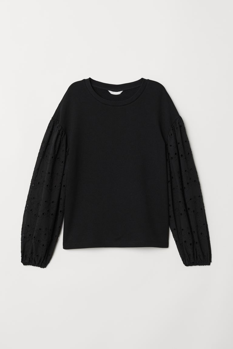 Sweatshirt - Black - Ladies | H&M US