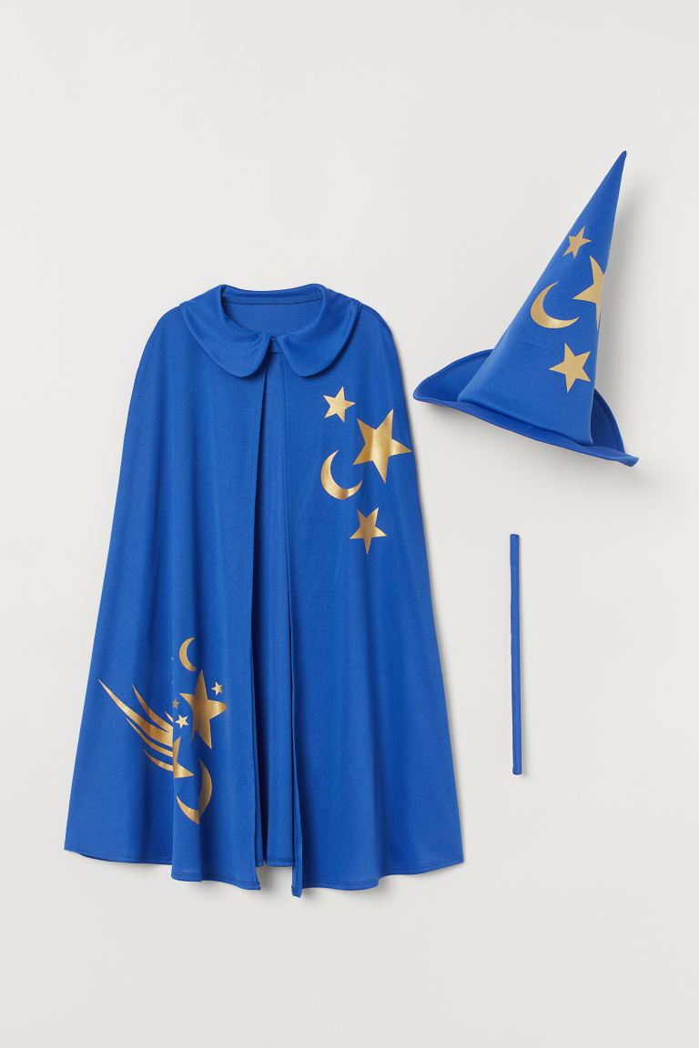Fancy dress cape and hat - Dark blue/Magician - Kids | H&M IN