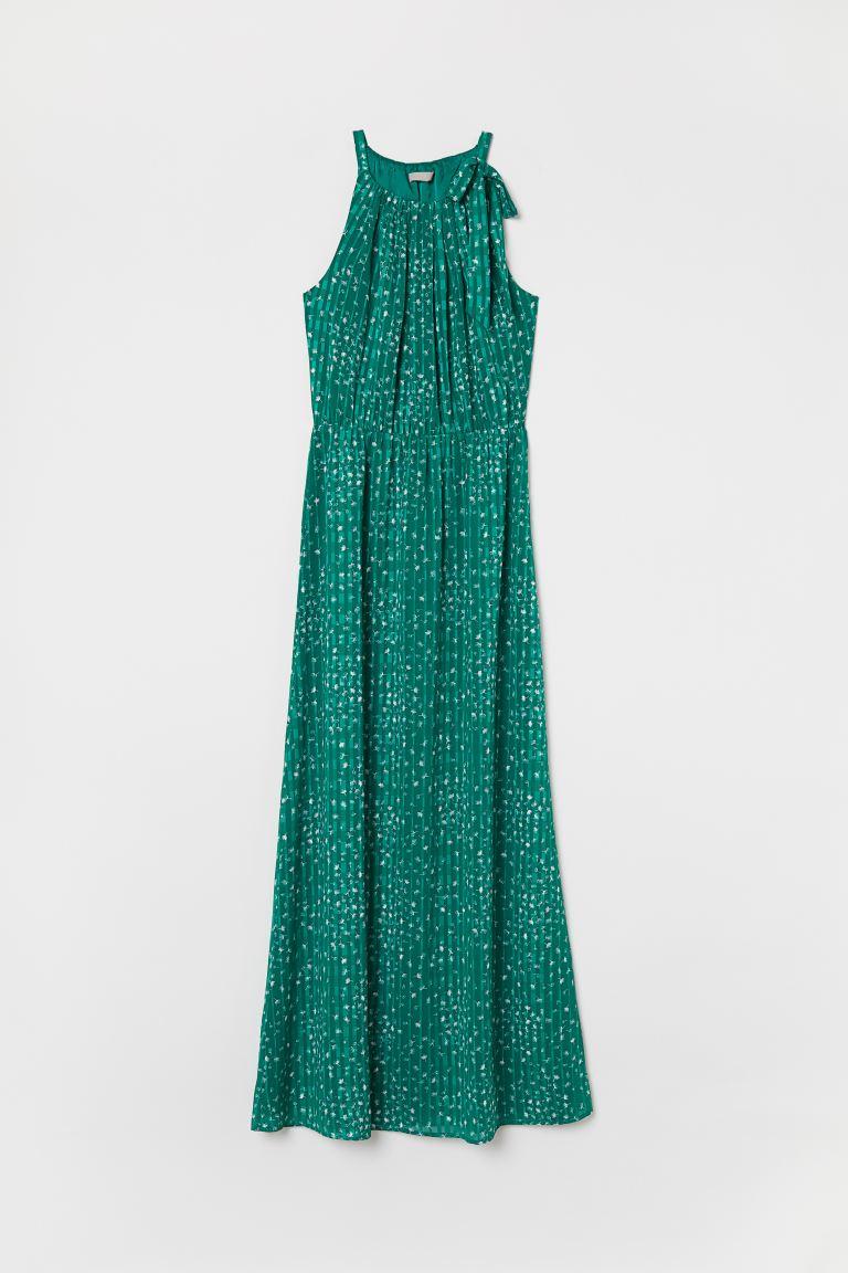 Hedendaags Maxi-jurk met strik - Groen - DAMES | H&M NL ET-34