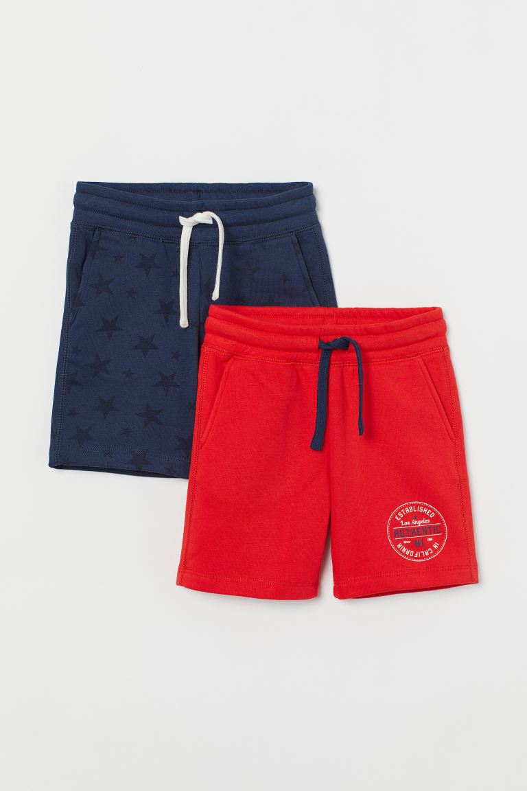 2-pack sweatshirt shorts - Dark blue/Stars - Kids | H&M GB