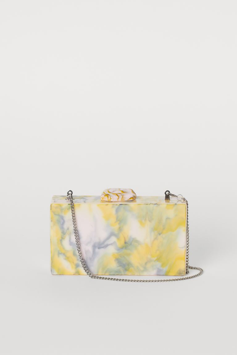 Marbled clutch bag - Light yellow/Marbled - Ladies | H&M GB