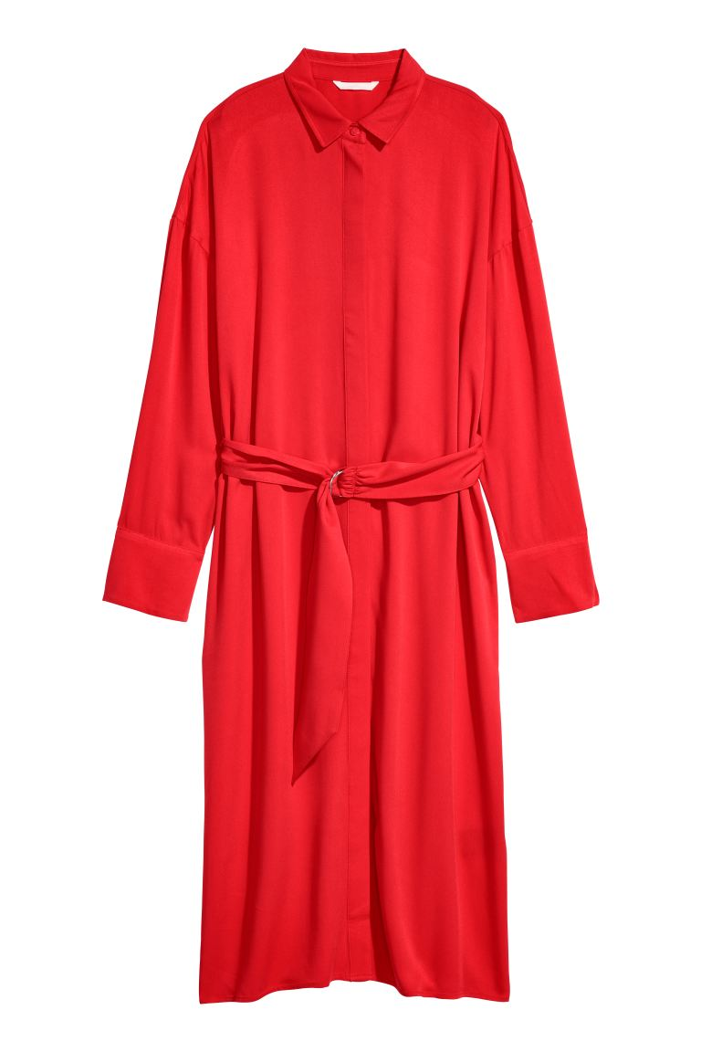 Shirt dress - Red - Ladies | H&M GB