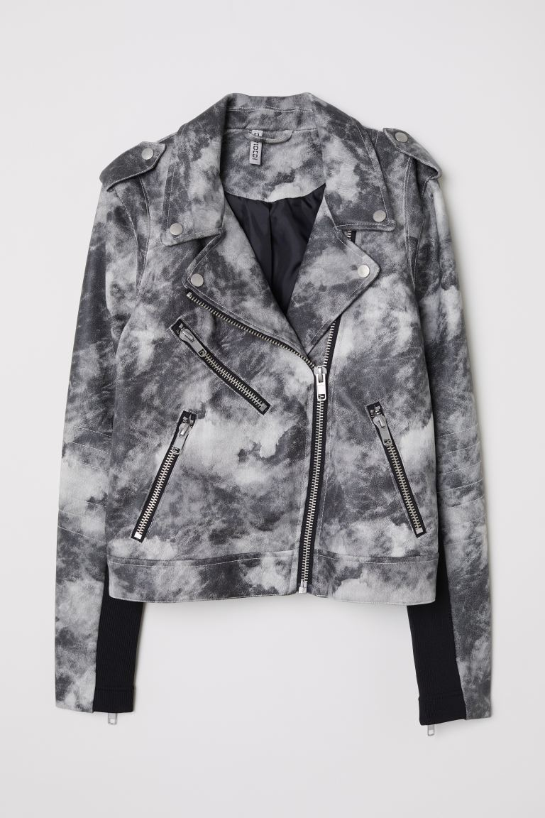 Giubbotto da biker - Grigio scuro/fantasia - DONNA | H&M IT