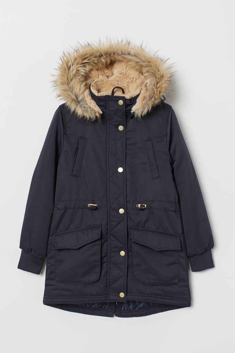 Padded parka - Dark blue -  | H&M IE