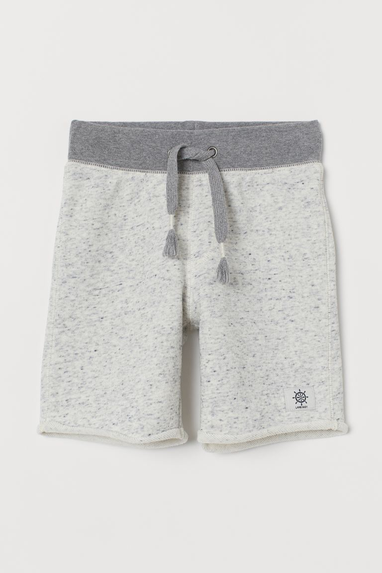 Sweatshirt shorts - Light grey marl - Kids | H&M