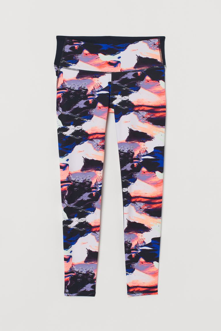 Yoga tights Shaping Waist - Multicoloured/Patterned - Ladies | H&M GB