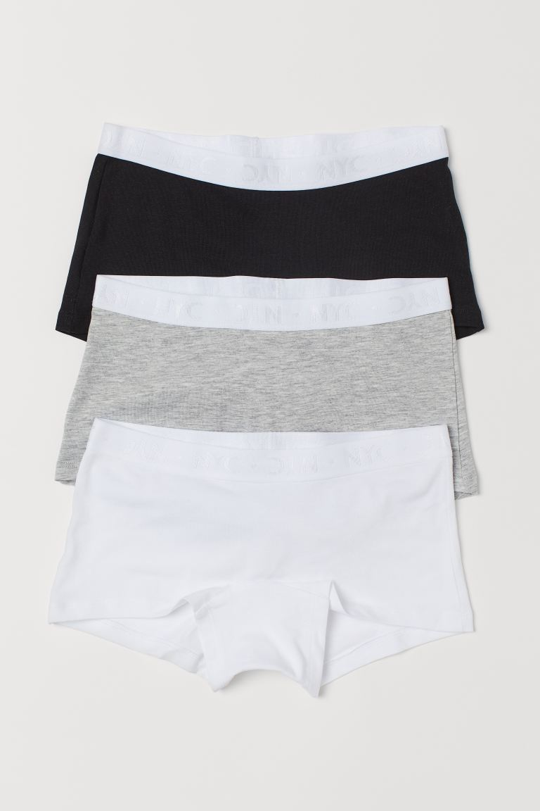 3-pack de bóxers brief - Gris jaspeado claro - Kids | H&M US