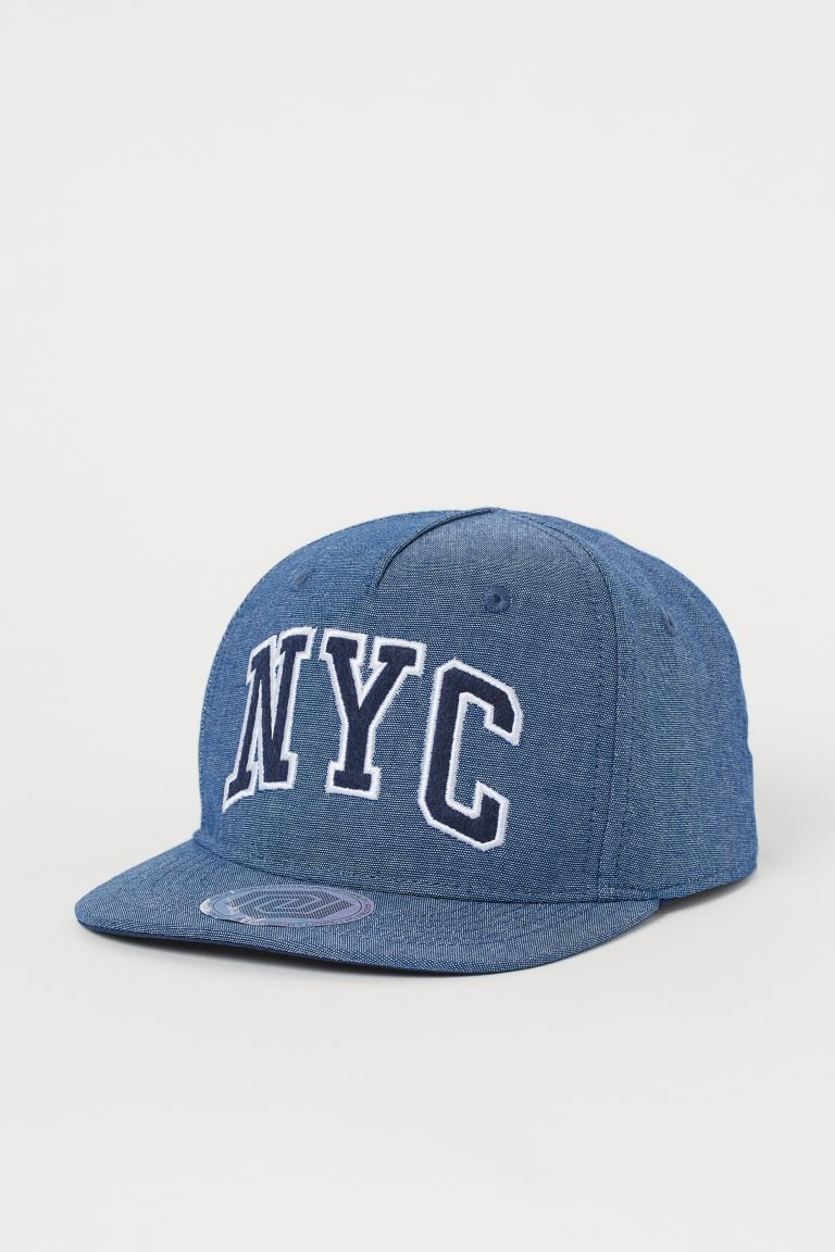 Cap with a motif - Dark blue marl/NYC -  | H&M