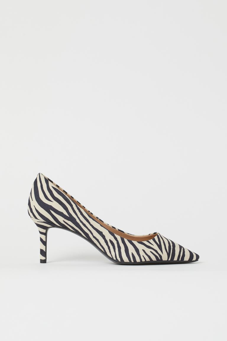 Pumps - Light beige/zebra print - Ladies | H&M US