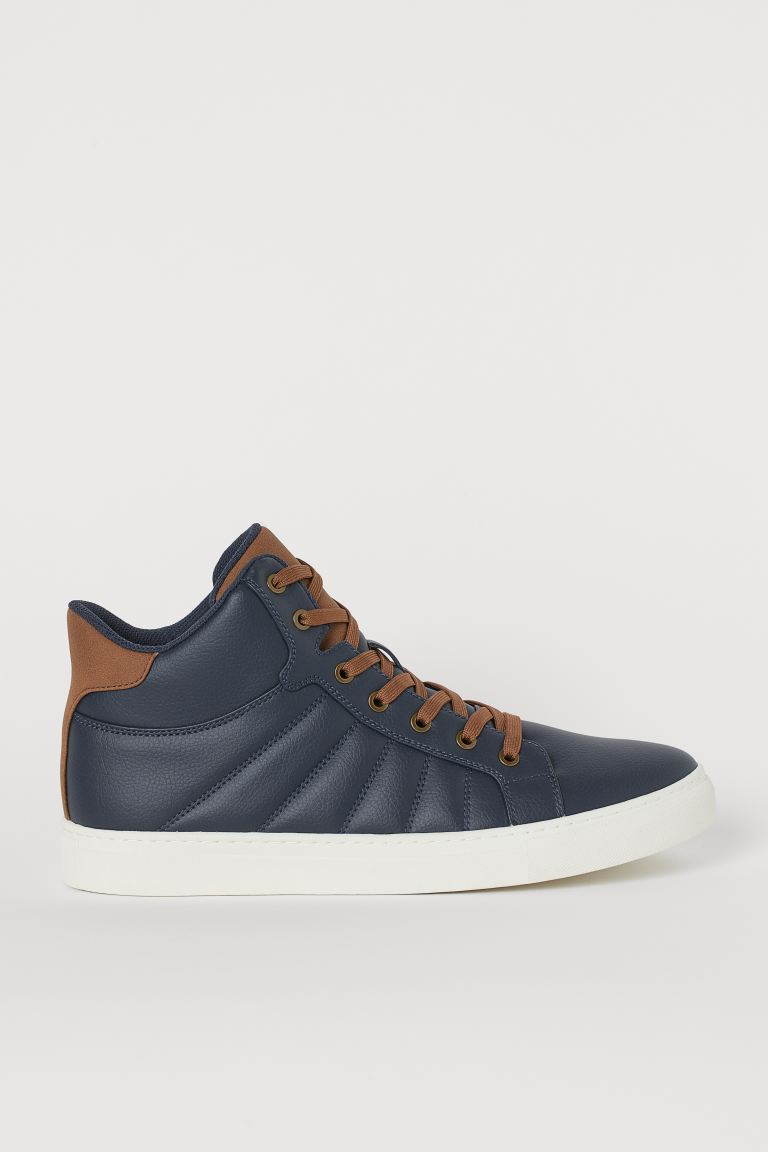 Sneakers alte - Blu scuro - UOMO | H&M IT