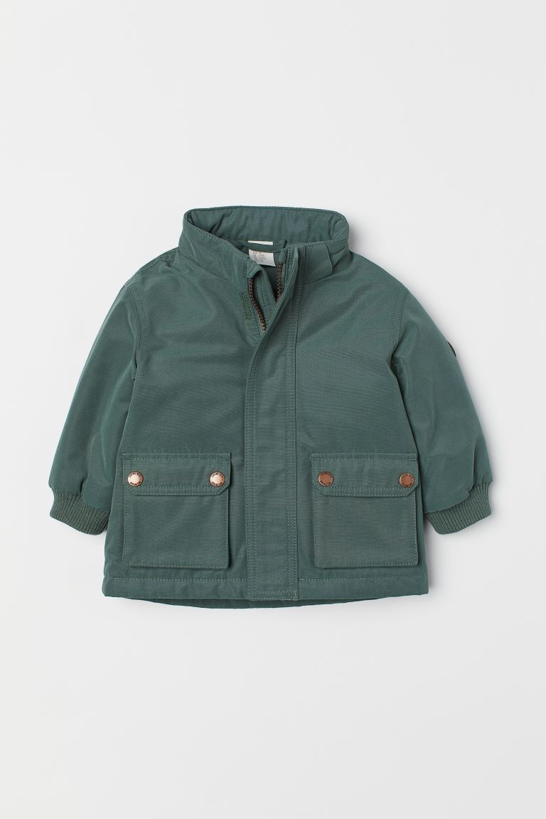 Wattierter Parka - Dunkelgrün - Kids | H&M AT
