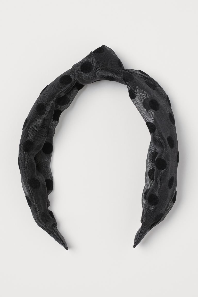 Alice band with a knot - Black/Spotted - Ladies | H&M GB