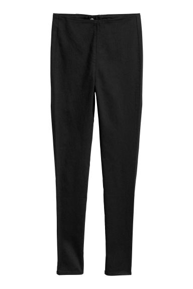 Slim-fit Pants - Black - Ladies | H&M CA
