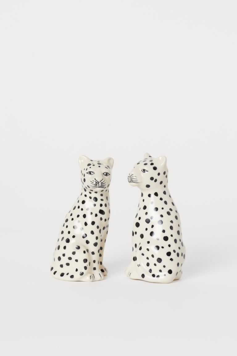 Salt and pepper set - Light beige/Leopard - Home All | H&M GB