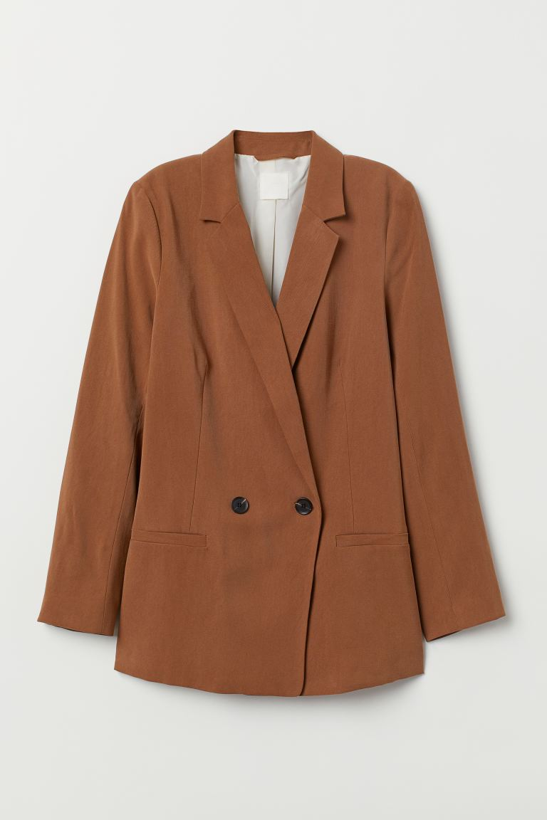Double-breasted Jacket - Brown - Ladies | H&M US