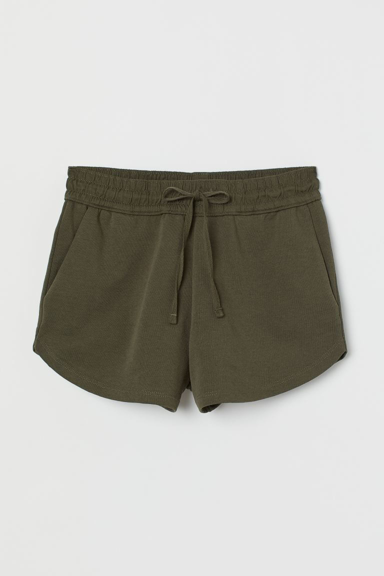 Sweatshorts - Dark khaki green -  | H&M US