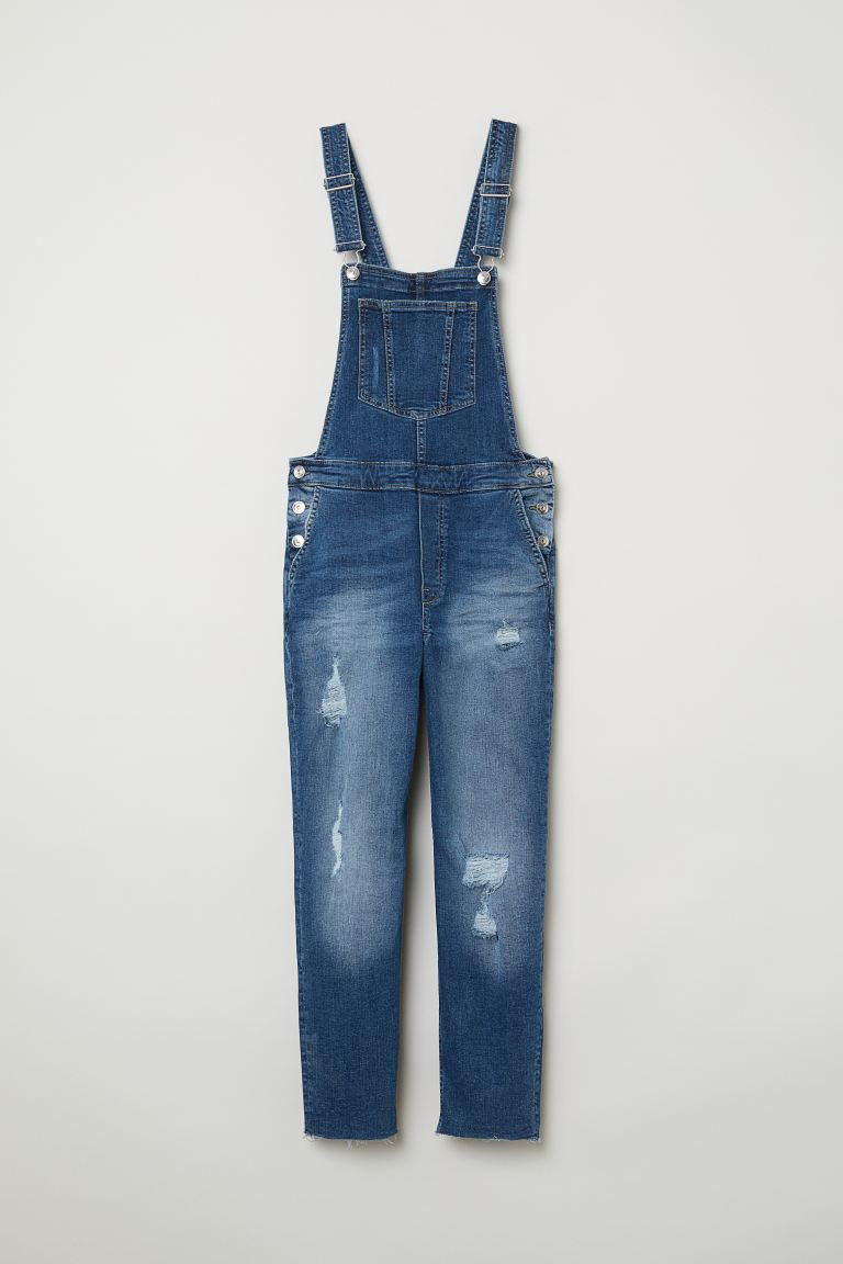 Denim Overalls - Dark denim blue - Ladies | H&M US