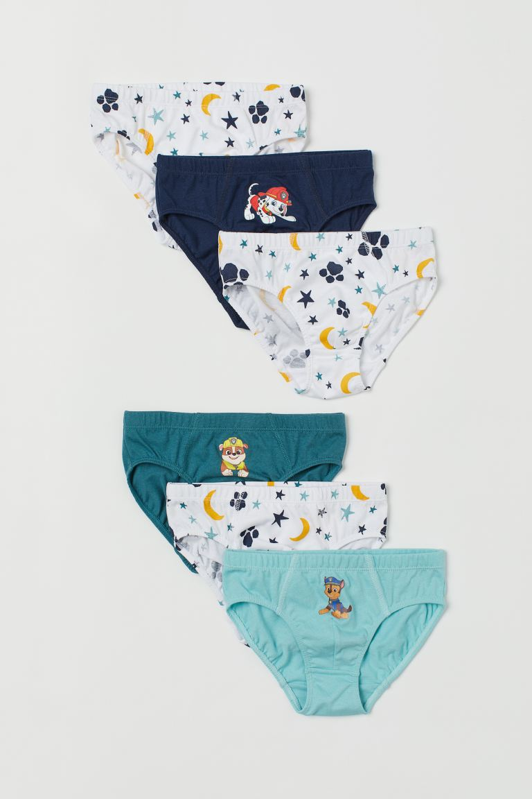 6-pack printed boys' briefs - Turquoise/Paw Patrol - Kids | H&M