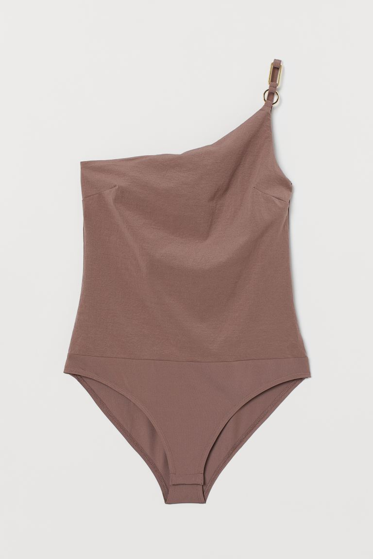 One-shoulder body - Dark mole - Ladies | H&M IN