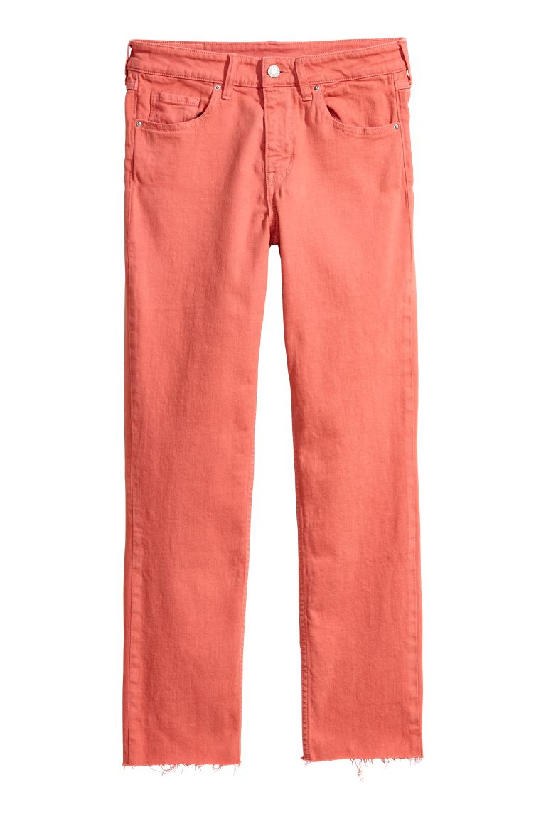 Slim Regular Ankle Jeans - Koraal - DAMES | H&M NL