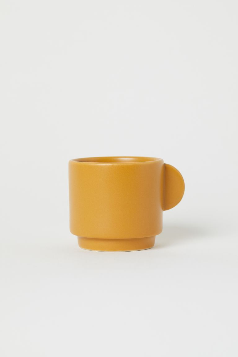 Stoneware cup - Mustard yellow - Home All | H&M GB