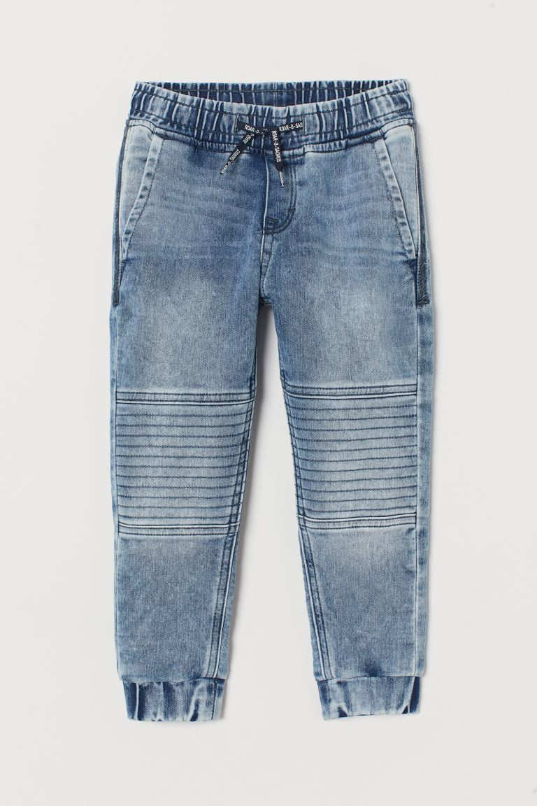 Super Soft denim joggers - Light denim blue/Washed out - Kids | H&M GB