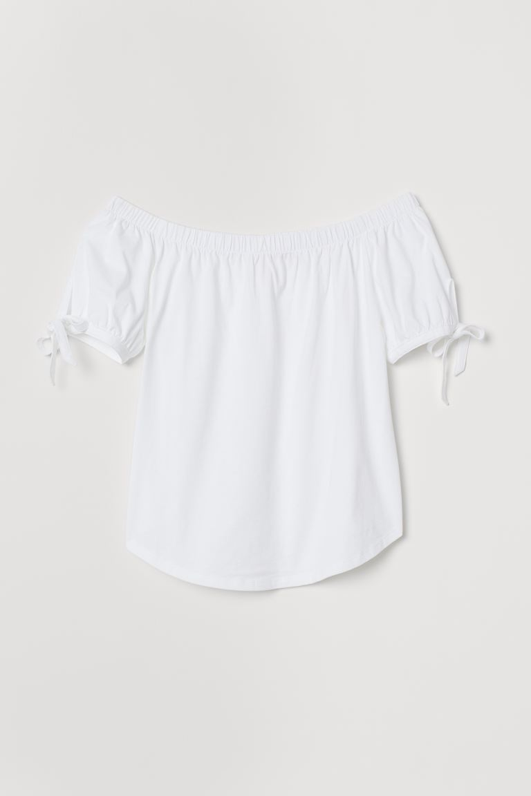 Off-the-shoulder Top - White - Ladies | H&M CA