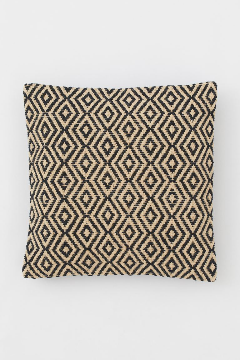 Jute-blend Cushion Cover - Black - Home All | H&M US