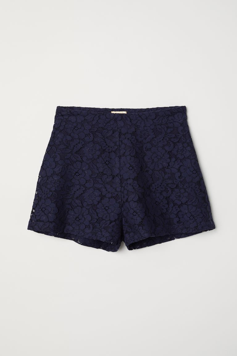 Shorts in pizzo - Blu scuro - DONNA | H&M IT