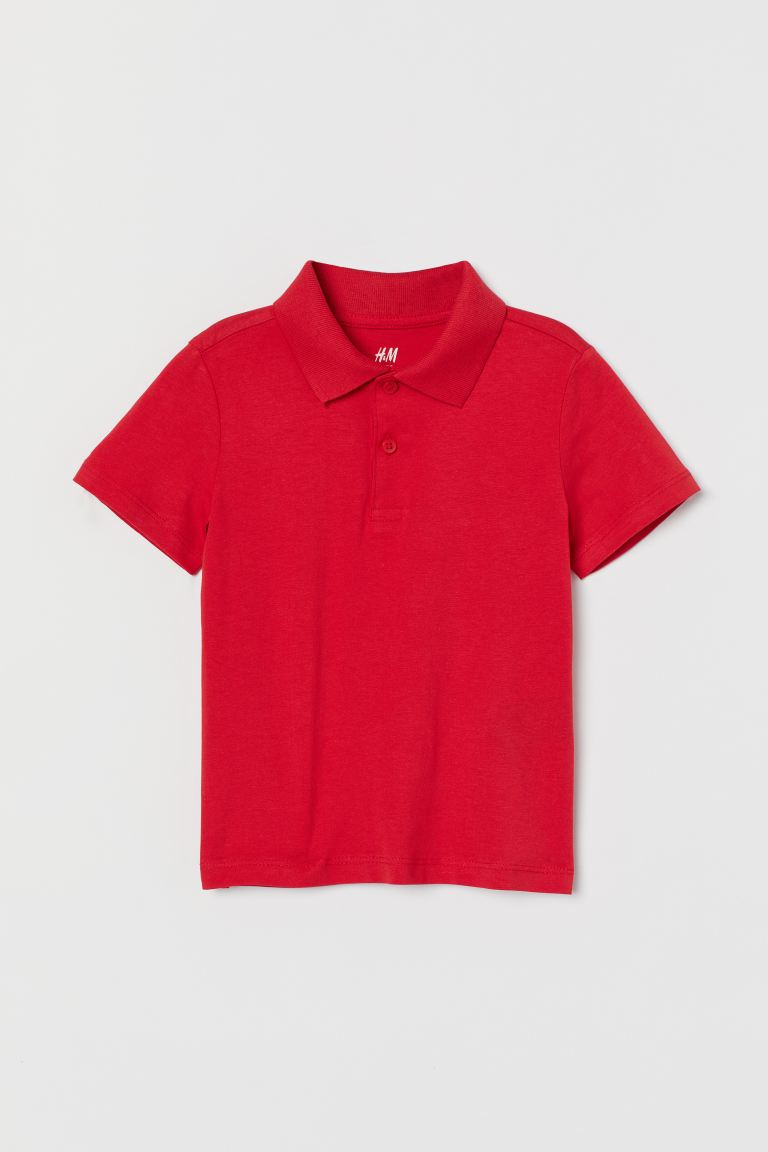 Polo Shirt - Bright red - Kids | H&M US