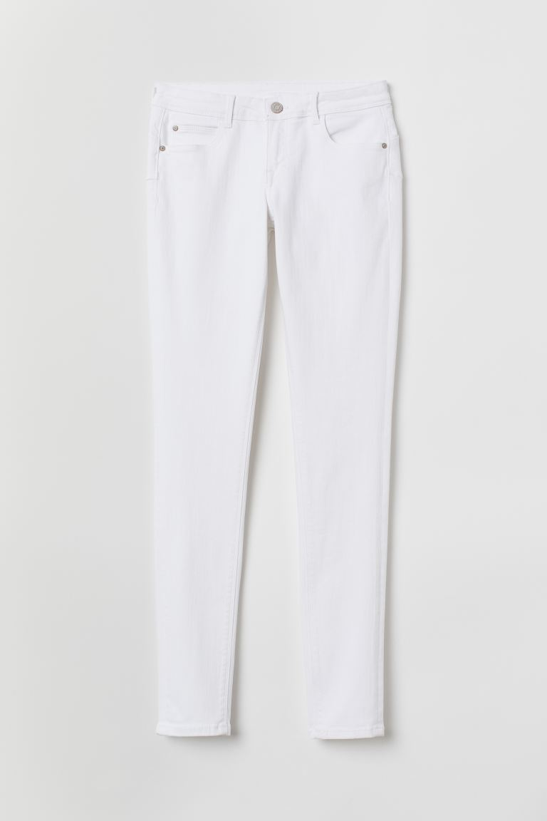 Push Up Low Jeggings - White - Ladies | H&M US