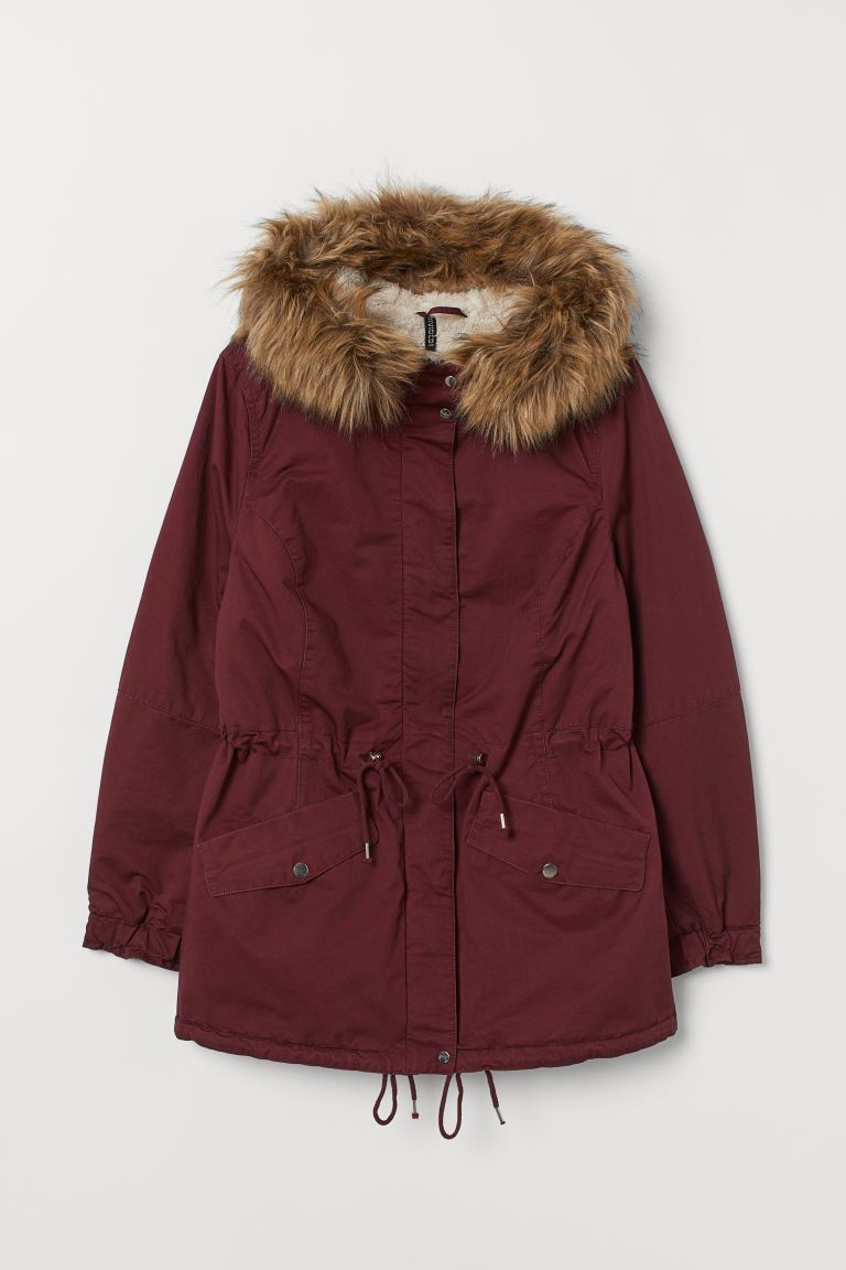 H&M+ Parka foderato - Bordeaux - DONNA | H&M IT
