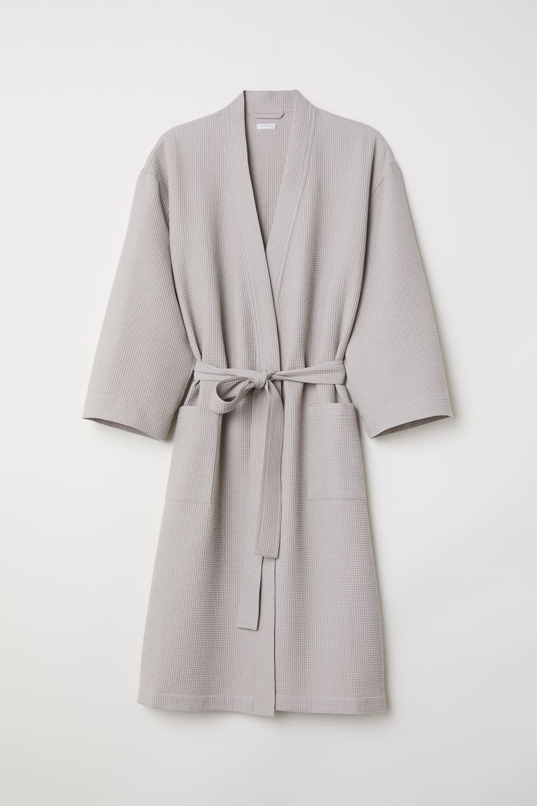 Waffled Bathrobe - Light taupe - Home All | H&M US