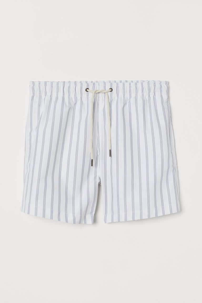 Swim shorts - Yellow/Grey striped - Men | H&M GB