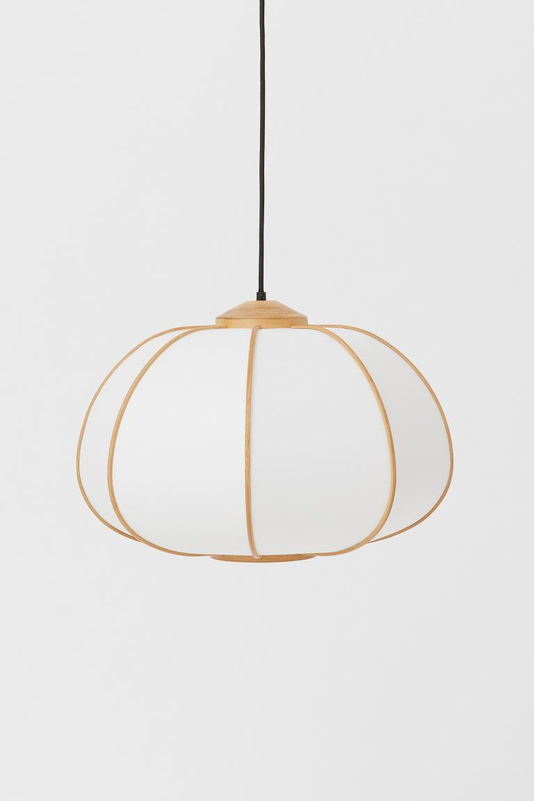 Bamboo pendant light - White/Bamboo - Home All | H&M GB