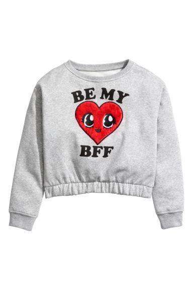 magazin de vânzare bun prețuri grozave Bluză de molton cu imprimeu - Gri-melanj/Be My BFF - COPII | H&M RO